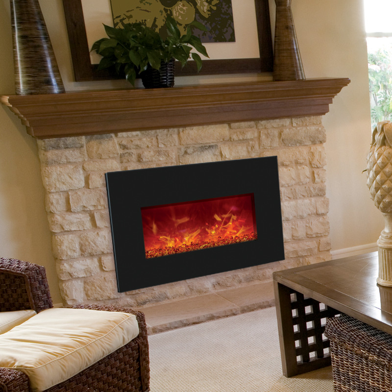 Electric Fireplaces  - Order a 30 inch wide Amantii electric fireplace insert online.