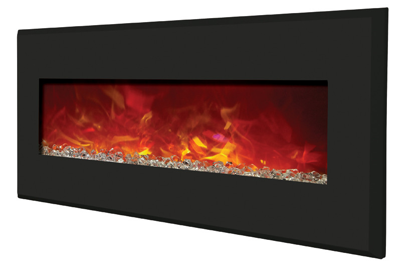 electric fireplaces - angle