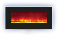 Amantii WM-BI-34-4423 electric fireplace with back-light