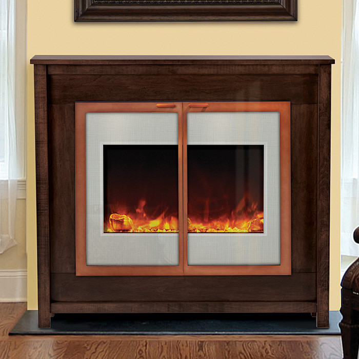 ZECL-30-3226-WHTGLS - Zero Clearance Electric Fireplace