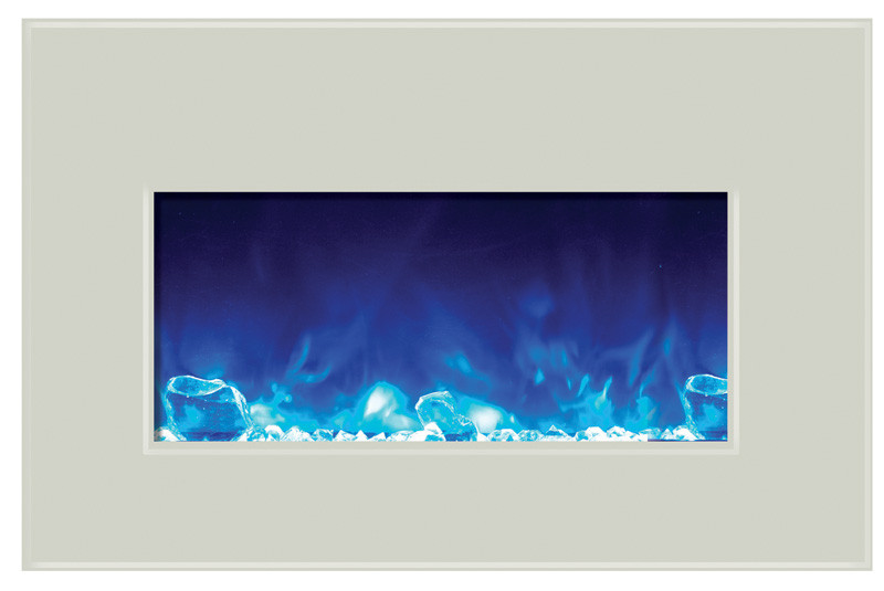 Amantii INSERT-30-4026-WHTGLS with blue flames