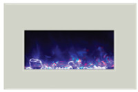 Amantii INSERT-30-4026-WHTGLS with purple flames