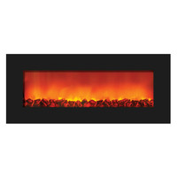 Sierra Flame WM-SLIM-42 - Wall Mount Zero Clearance Electric Fireplace
