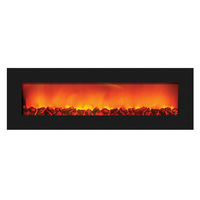 Sierra Flame WM-SLIM-54 - Wall Mount Zero Clearance Electric Fireplace