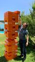 Jenga XXL® Gigantic Cardboard Edition Game in action!