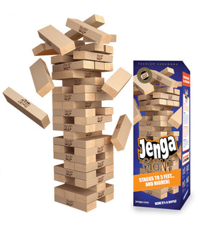 Jenga® GIANT™ Premium Hardwood Game (can stack 3'+)