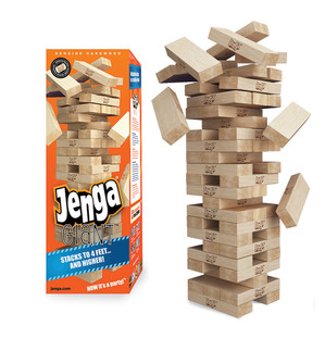 Jenga® GIANT™ Genuine Hardwood Game (can stack 4'+)