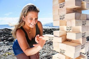 Jenga® GIANT™ JS7 Hardwood Game (can stack 5'+)