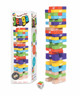Jenga® Throw 'n Go! Hardwood Game