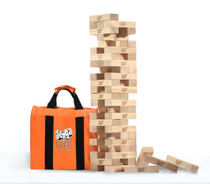 Jenga® GIANT™ JS6™ (Stacks Over 4 Feet) Precision-Crafted, Premium Hardwood Game w/Carry Bag