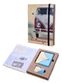 VW Campervan Lighter & Cigarette Case Blue Gift Set