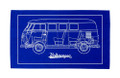 Volkswagen Campervan Blueprint Tea Towel