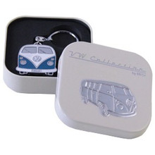 Official VW Collectors Blue Keyring in Cream Presentation Tin.