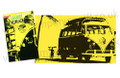VW Campervan Surf Silhouette Yellow Tea Towel