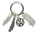 VW Campervan Silver Charm Keyring