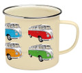 VW T1 Campervan Colours Enamel Tin Mug