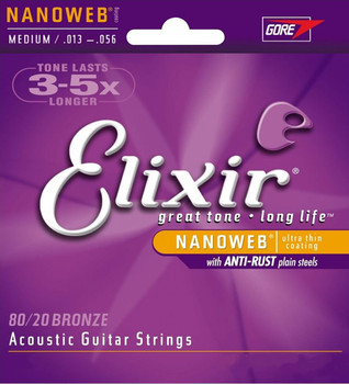 Elixir Nanoweb Bronze Acoustic Guitar Strings