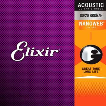 Elixir Nanoweb Bronze Acoustic Guitar Strings Ireland