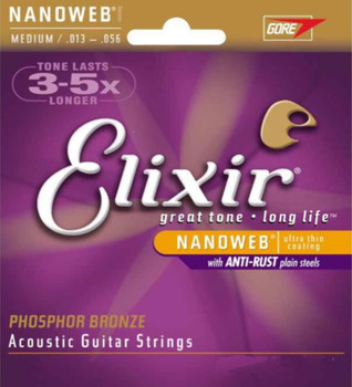 Elixir Nanoweb Phosphor Bronze Acoustic Guitar Strings