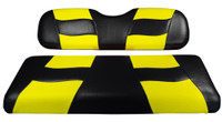 Madjax RIPTIDE Black/Yellow Rear Seat Cushion Set - Fits Genesis 150 Rear Flip Seat Kit