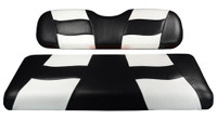 Madjax RIPTIDE Black/White Rear Seat Cushion Set - Fits Genesis 150 Rear Flip Seat Kit