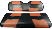 Madjax RIPTIDE Black/Moroccan Rear Seat Cushion Set - Fits Genesis 150 Rear Flip Seat Kit