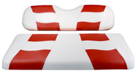 Madjax RIPTIDE White/Red Rear Seat Cushion Set - Fits Genesis 150 Rear Flip Seat Kit