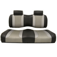 Madjax TSUNAMI Black–Liquid Silver w/ Silver Rush Front Seat Cushion Set