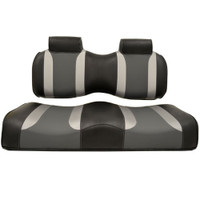 Madjax TSUNAMI Black–Liquid Silver/Lagoon Gray Front Seat Cushion Set