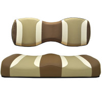 Madjax TSUNAMI Caramel Oyster W/ Autumn Harvest Rear Seat Cushion Set - Fits Genesis 250/300 Rear Seat Kits