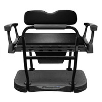 Madjax Genesis 300 Aluminum Rear Seat with Standard (Black) Cushions - Club Car DS