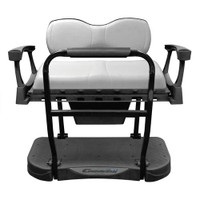 MadJax Genesis 300 Aluminum Rear Seat with Deluxe (White) Cushions - Club Car DS