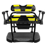 Madjax Genesis 250 Steel Rear Seat with Black/Yellow RIPTIDE Standard Cushions