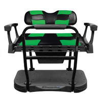 Madjax Genesis 250 Steel Rear Seat with Black/Green RIPTIDE Standard Cushions