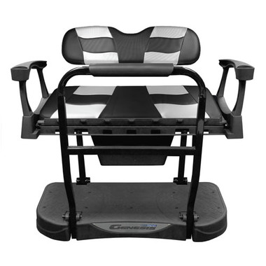 Madjax Genesis 250 Steel Rear Seat with Black Carbon/Silver Carbon RIPTIDE Standard Cushions