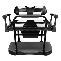 Madjax Genesis 250 Steel Rear Seat with Black/White RIPTIDE Standard Cushions