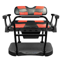 Madjax Genesis 250 Steel Rear Seat with Black/Red RIPTIDE Standard Cushions