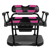 Madjax Genesis 250 Steel Rear Seat with Black/Pink RIPTIDE Standard Cushions