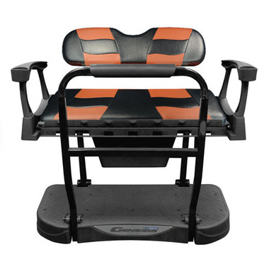 Madjax Genesis 250 Steel Rear Seat with Black/Moroccan RIPTIDE Standard Cushions