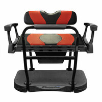 Madjax Genesis 250 Steel Rear Seat with Black/Red WAVE Cushions