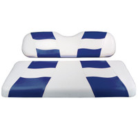 Madjax RIPTIDE White/Blue Rear Seat Cover