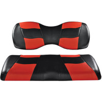 Madjax RIPTIDE Black/Red Deluxe Rear Seat Cushion Set - Fits Genesis 250/300 Rear Seats
