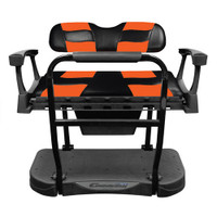 Madjax Genesis 300 Aluminum Rear Seat with Black/Orange RIPTIDE Standard Cushions
