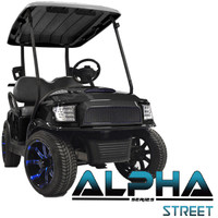 Madjax Black ALPHA Street Series Front Cowl Kit - Fits Club Car Precedent (2004-Up)