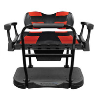 Madjax Genesis 300 Aluminum Rear Seat with Deluxe Black/Red RIPTIDE Cushions