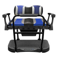Madjax Genesis 300 Aluminum Rear Seat with TSUNAMI Black Liquid Silver w/Freestyle Wave Cushions