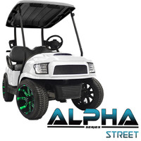 Madjax White ALPHA Street Series Front Cowl Kit - Fits Club Car Precedent (2004-Up)