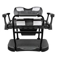 Madjax Genesis 300 Aluminum Rear Seat with Deluxe Black Carbon/Silver Carbon RIPTIDE Cushions