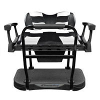 Madjax Genesis 250 Steel Rear Seat with Deluxe Black/White RIPTIDE Cushions