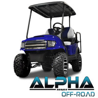 Madjax Blue ALPHA Off-Road Front Cowl Kit - Fits Club Car Precedent (2004-Up)